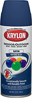 Krylon (K05352307-6 PK Oxford Blue Decorator 'Satin Touch' Spray Paint - 12 oz. Aerosol, (Case of 6)