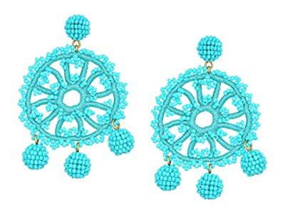 J.Crew Beaded Crochet Flower Earrings (Vintage Aqua) Earring