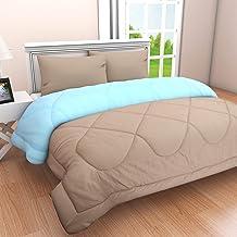 Clasiko Microfibre 300 TC Reversible Comforter (Taupe & Blue_King)