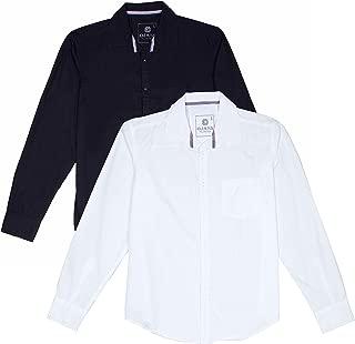 OJASS Men's Solid Casual Black Shirt