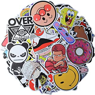 100 Pcs Cute Mixed Vinyl PVC Cartoon Stickers Decorate Water Cup Skateboard Tablet Computer Luggage and Bags for Various F...