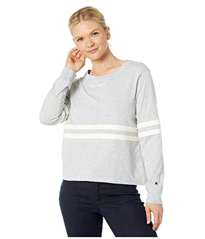 Champion Heritage Long Sleeve Tee (Oxford Gray) Women
