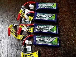 4 Pack TURNIGY NANO-TECH 300mAh 2S 7.4v 45-90C LIPO Battery 1/24 Losi Micro Truggy SCT Rally