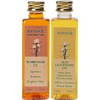 Auravedic Skin Lightening Oil 100 Ml & Kumkumadi Oil, 100 Ml