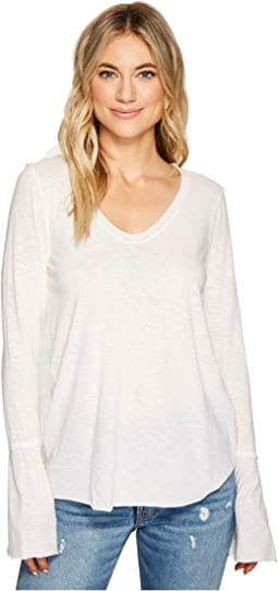 Cotton Supima Soft V-Neck with Bell Sleeve