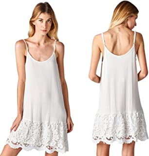 Sassyclassyjewelry Oddi Lace Dress Extender Scalloped Crochet Black White Slip Tank Top Shirt