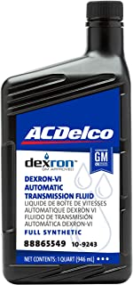 زيت ناقل حركة أوتوماتيكي اصطناعي كامل من ACDelco GM Original Equipment 10-9243 Dexron VI - 1 لتر