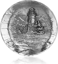 Wendell August Lighthouse Coaster, Marblehead, Hand-hammered Aluminum, Keeps Tabletops Safe, 4.5 Inch Round Coaster