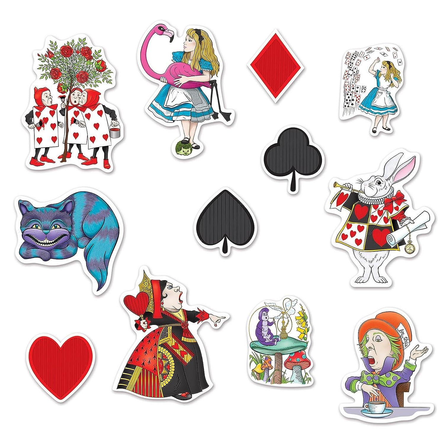 Beistle Alice in Wonderland Cutouts Multicolored 6