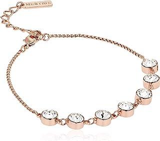MESTIGE Women Crystal Rose Gold Nicole Bracelet with Swarovski Crystals