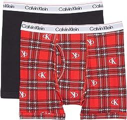 2-Pack Modern Cotton Boxer (Little Kids/Big Kids)