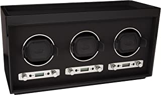 WOLF 453770 Meridian Triple Watch Winder, Black