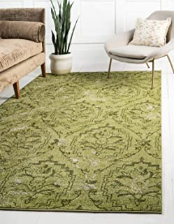 Unique Loom Damask Collection Traditional Floral Light Green Area Rug (3' 3 x 5' 3)