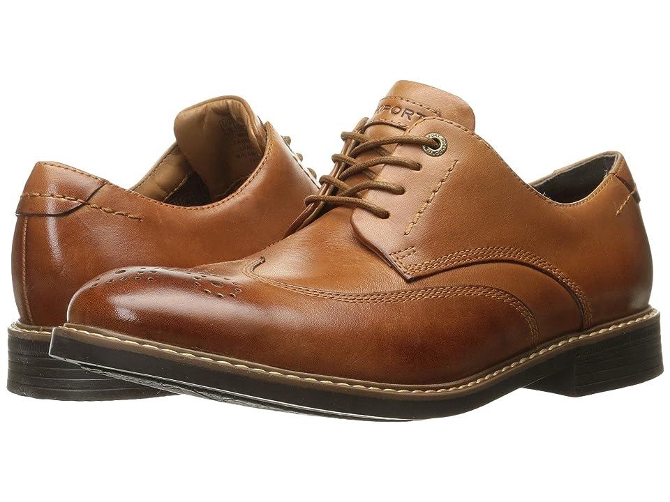 Rockport Classic Break Wingtip (Cognac Leather) Men