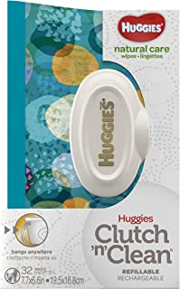 Huggies Natural Care Fragrance Free Baby Wipes, 6 Clutches, 32 Wipes per Clutch