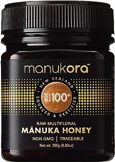 Manukora MGO 100+ Multifloral Raw Mānuka Honey (250g/8.8oz) - Authentic Non-GMO New Zealand Honey, UMF & MG...