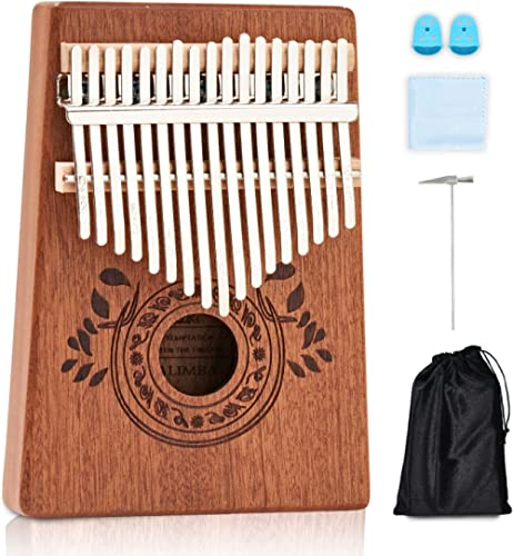 UNOKKI Kalimba Thumb Piano - Kalimba 17 Key Musical Instruments w/ Kalimba Song Book Instructions, Tuning Hammer & Mo...