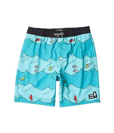 Billabong Kids One Fish Two Fish Jams (Big Kids) (Aqua) Boy