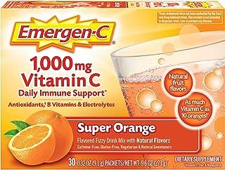Emergen-C 1000mg Vitamin C Powder, with Antioxidants, B Vitamins and Electrolytes, Vitamin C Supplements for Immune Suppor...
