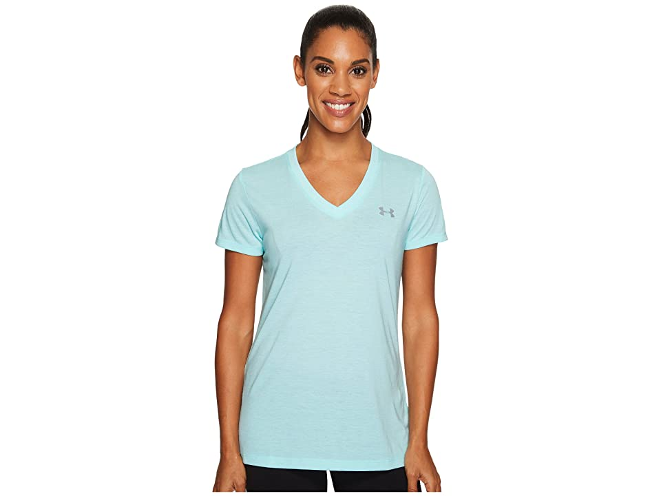 Under Armour Threadborne Train Short Sleeve V-Neck Twist (Blue Infinity/Steel) Women