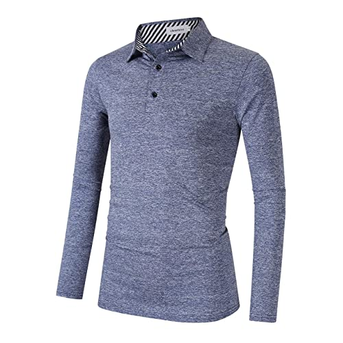 e318459fb3a3 Clearlove Men's Solid Colour Casual Golf Tops Polo Shirts