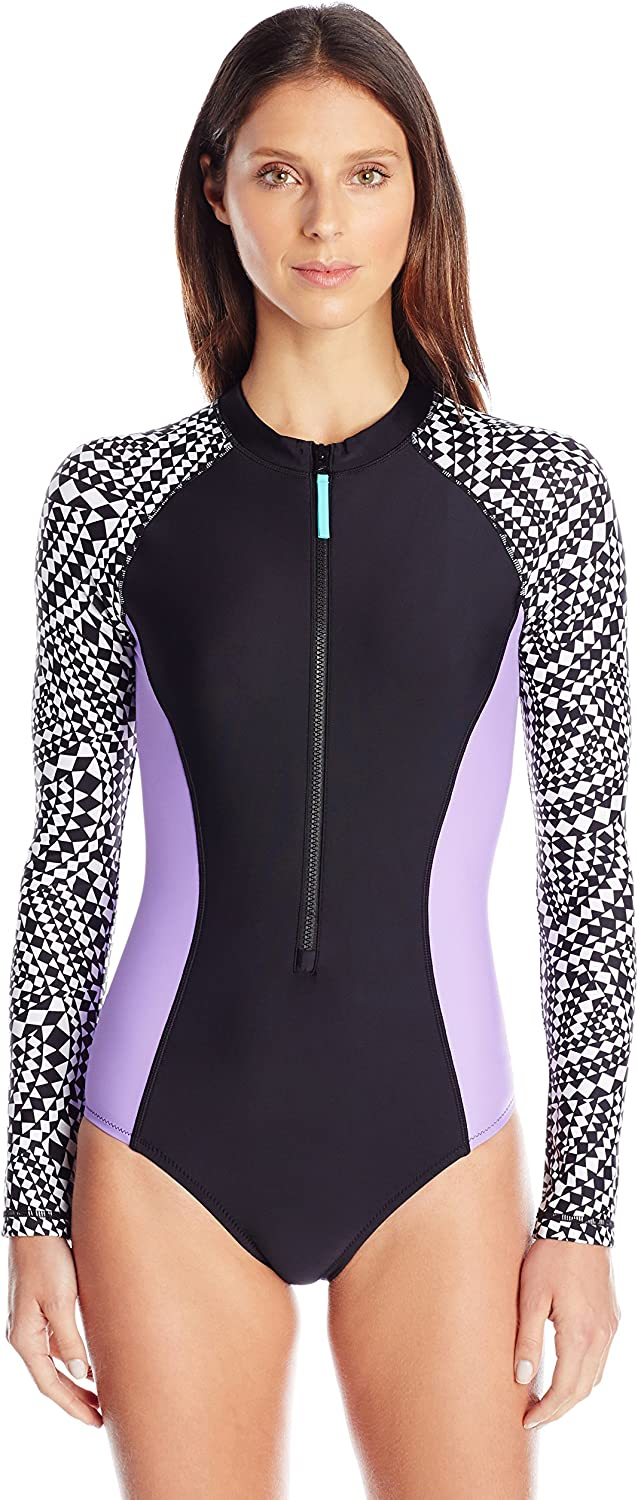Speedo Women's Long Sleeve One Piece Swimsuit