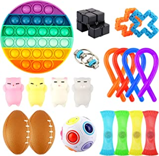 Growsly Sensory Fidget Toys Set, Stress Relief and Anti-Anxiety Tools Bundle for Kids and Adults, 20 Fidget Packs Includin...