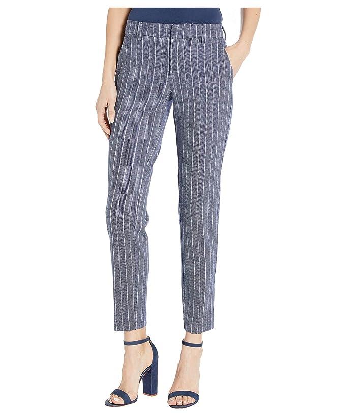 Liverpool  Kelsey Knit Trousers in Novelty Print (Blue/White Herringbone Stripe) Womens Casual Pants