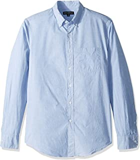J.Crew Mercantile Men's Slim-Fit Long Sleeve Solid Shirt, Waterfall end on, L