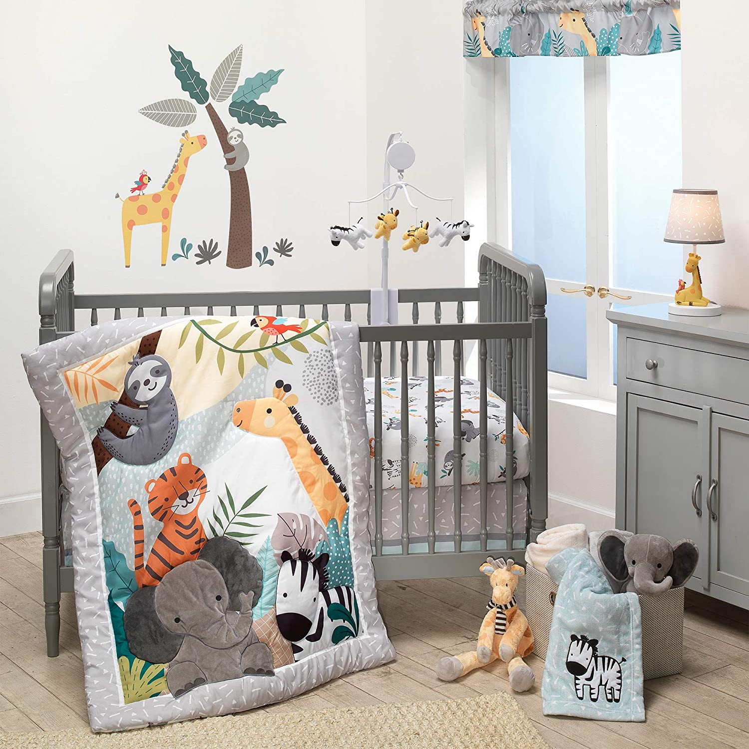 Bedtime Originals Mighty Jungle 3Piece Crib Set Inventory cleanup selling sale Multico Over item handling ☆ Bedding