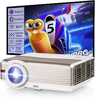 Wireless WiFi Projector 6000 Lumen Outdoor LED LCD Bluetooth Movie Zoom WXGA Home Cinema Theater Proyector Screen Mirrorin...