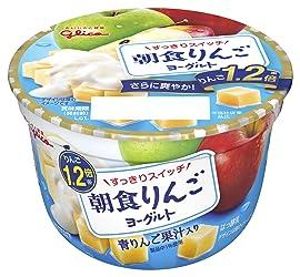 [冷蔵] グリコ 朝食りんごヨーグルト 140g