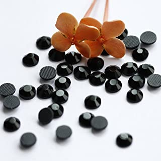 720pcs Ss20 About 5mm Dmc Iron on Hot Fix Crystal Rhinestones Diamond Gems Wholesale (black)