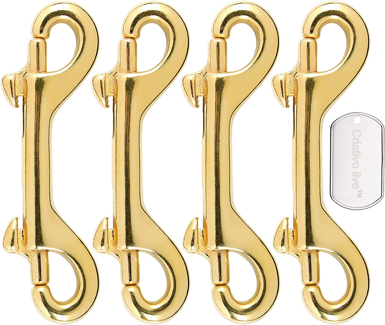 Brass Double End Snap Max 90% OFF Hook Regular store Clip for Diving 4