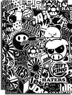 sticker bomb sheet black and white