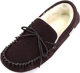 Nouveau homme garçons beige marron souple de luxe en daim synthétique à enfiler chaussons chaussures