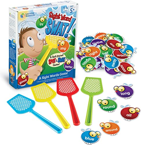 Learning Resources Sight Word Swat a Sight Word Game, Home School, Tactile and Auditory Learning, Phonics Games, Educ...