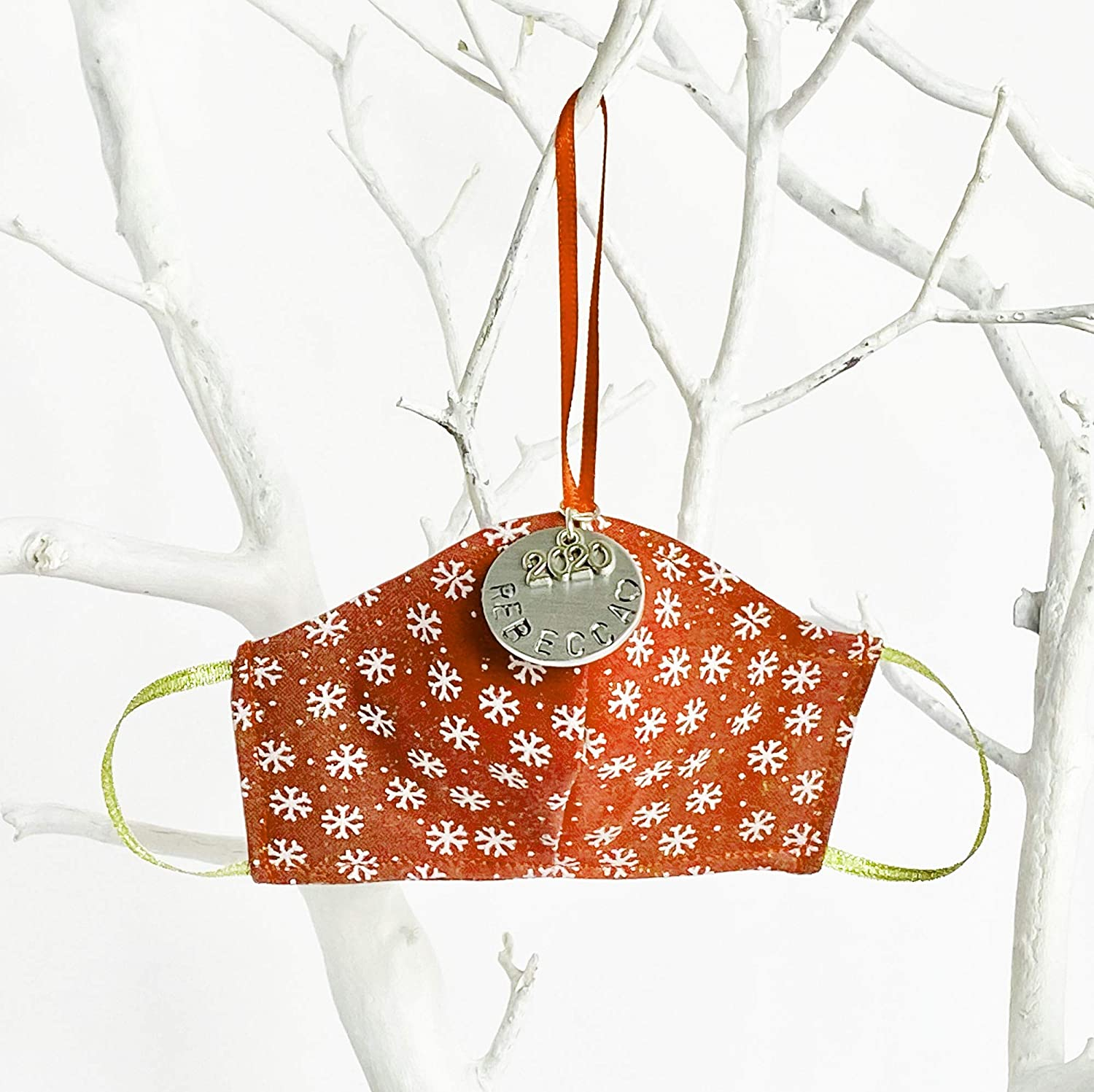 Red Minneapolis Mall Cheap Mini Snowflakes Personalized Christmas Face Orname Mask Tree