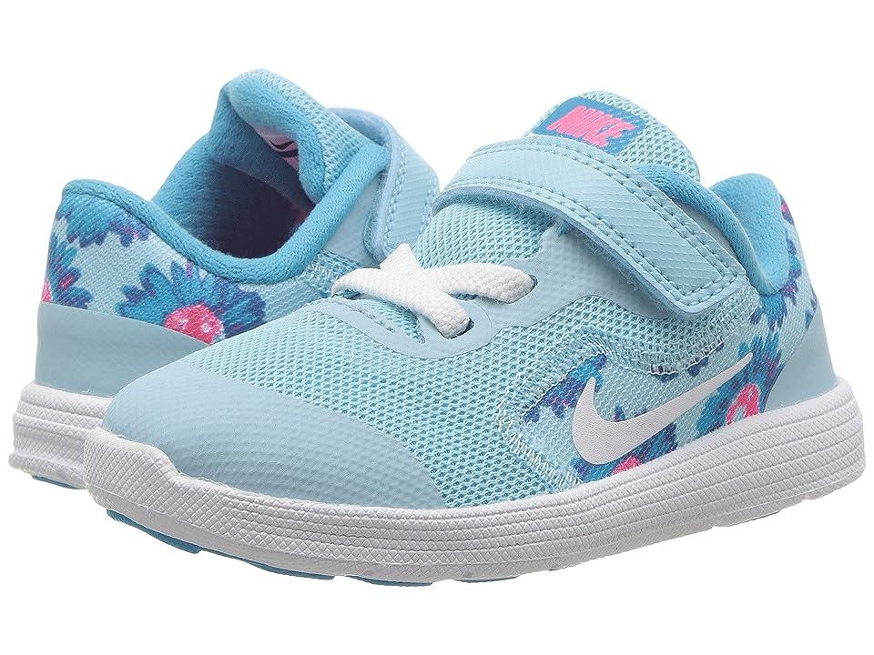 Nike Kids Revolution 3 Print (Infant/Toddler) (Still Blue/White/Chlorine Blue) Boys Shoes