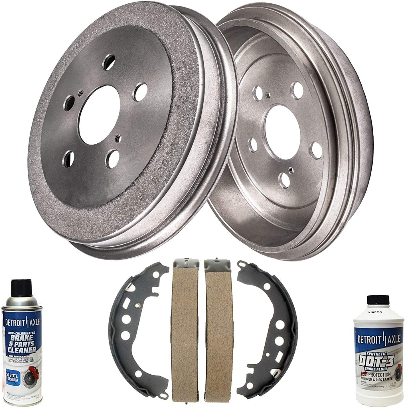 Detroit Axle - Max 85% OFF Rear Brake Las Vegas Mall Drum Replacement for Toy + Shoes