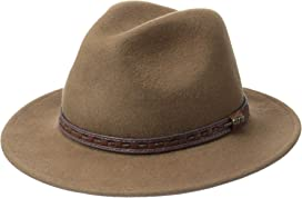 704b69dcd56c0 Crushable Wool Felt Safari with Leather Band