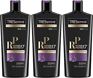 Tresemme Pro Collection Shampoo - Repair & Protect 7 - With Biotin - Net Wt. 22 FL OZ (650 mL) Per Bottle - Pack of 3 Bottles