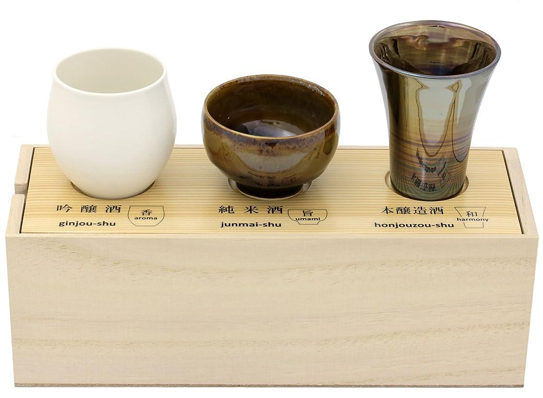 疫病溶けたペデスタル感器工房 日本酒 呑みくらべ 杯セット (木箱入) 62682