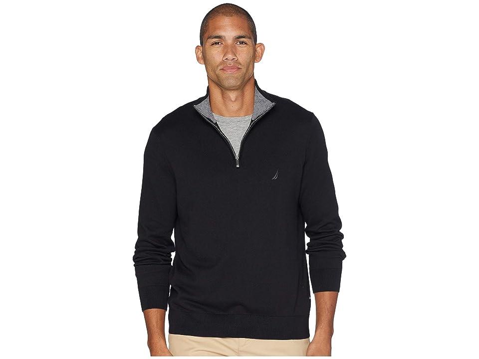 Nautica 12 Gauge 1/4 Zip Sweater (True Black) Men