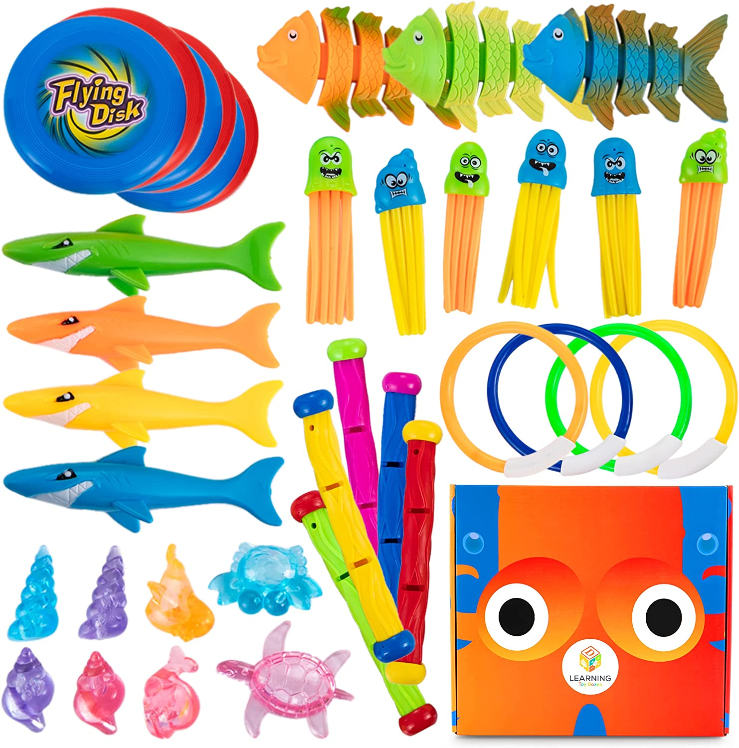L Max 79% OFF Learning Toy Boxes Pool Diving Toys Sale SALE% OFF Kids Flo Sinking PC 38 for