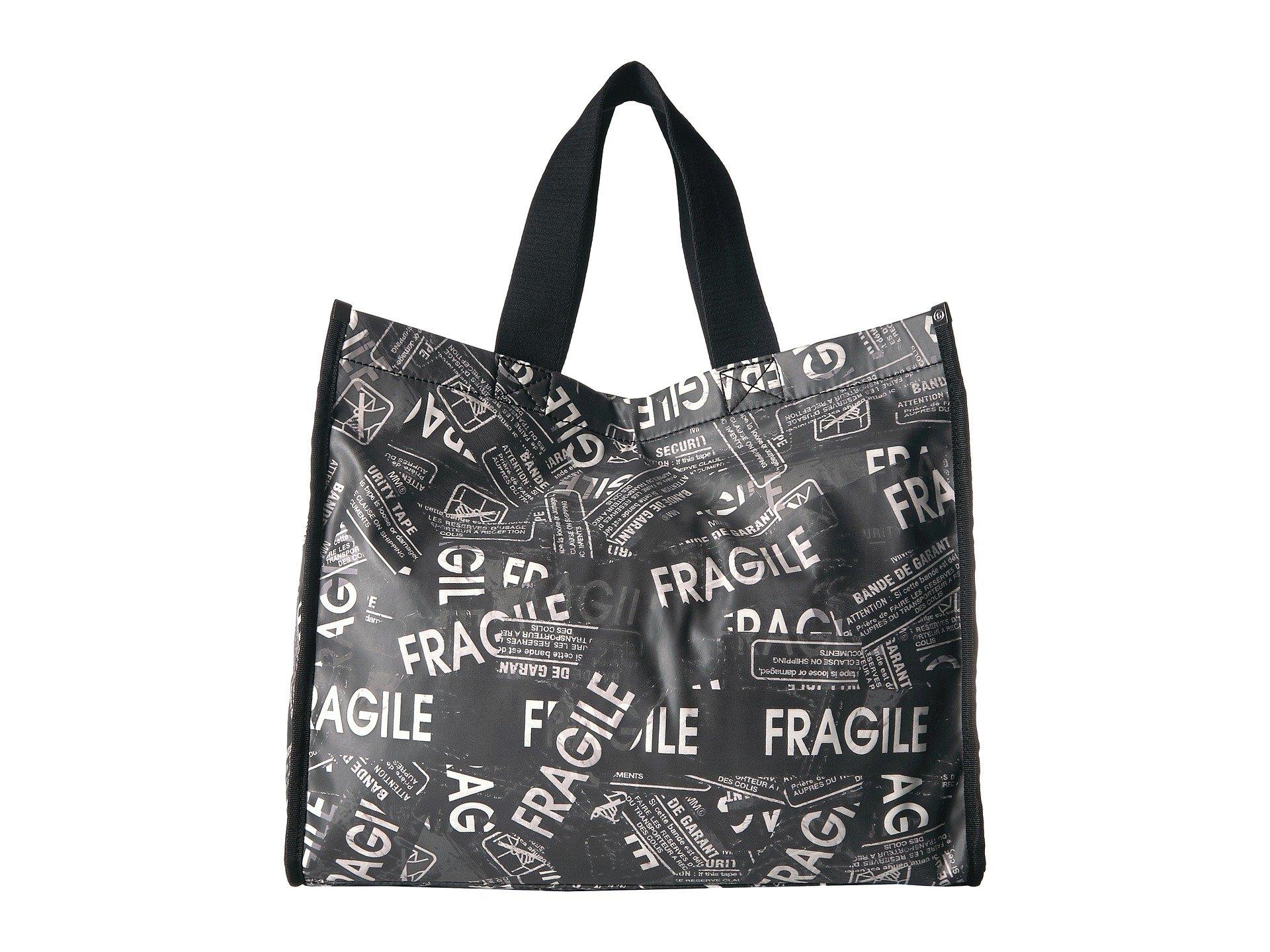 Mm6 Shopper Fragile Black Maison white Margiela Tote AqwrA