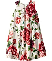 Dolce & Gabbana Kids - Knit Peonie Print Dress (Toddler/Little Kids)