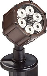 Kichler Lighting 15743BBR LED Accent Light 6-Light Low Voltage 60 Degree Wide Flood Light, Bronzed Brass with Clear Tempered Glass