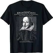 William Shakespeare Face Portrait First Folio T-Shirt