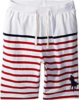 Striped Cotton Jersey Shorts (Big Kids)